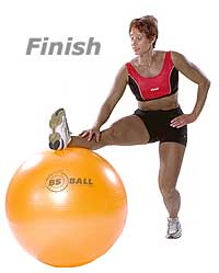 Stretching Hamstring with Ball