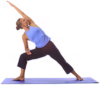 Yoga Beginner Side Angle Stretch
