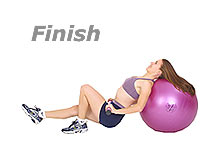 One Leg Bridge Glute Drop Supine on Swiss Exercise Ball with TheraGear® Body Toning Bar 2