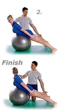 Double Leg Kick with Swiss Exercise Ball 2