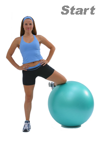 Abductur Stretch with Swiss Exercise Pro Ball