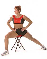 Adductor Stretch on Ergo Sit™ & Core Disc