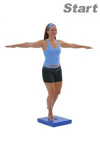 Balancing Poses On The Balance Pad