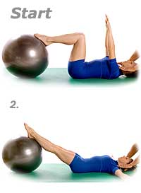 Double Leg Stretch with Swiss Exercise Ball
