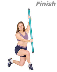 Dynamic Crisscross Lunge with TheraGear® Body Toning Bar 2