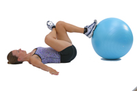Glute Stretch with the Swiss Exercise Ball