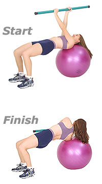 Golf Twist with Swiss Exercise Ball and TheraGear® Body Toning Bar 1