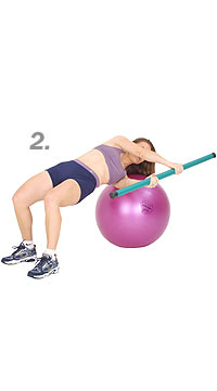 Golf Twist with Swiss Exercise Ball and TheraGear® Body Toning Bar 2