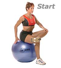 Hip-Piriformis Stretch on Swiss Exercise Ball 1