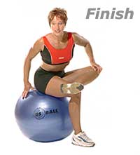 Hip-Piriformis Stretch on Swiss Exercise Ball 2