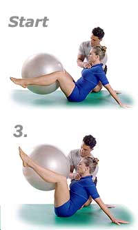 Hip-Circles and Stretched Arms with Swiss Exercise Ball