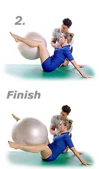 Hip-Circles and Stretched Arms with Swiss Exercise Ball 2