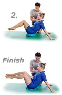Hip-Circles and Stretched Arms with TheraGear® Core Disk 2
