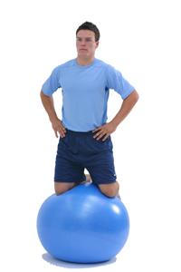 Kneel On Swiss Exercise Ball