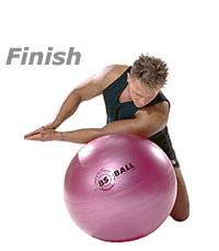 Kneeling Shoulder Stretch on Swiss Exercise Ball  2