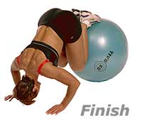 Prone Knee Pull-Ins on Swiss Exercise Ball  2