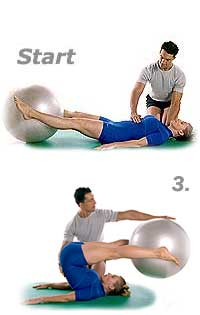 Roll-Over with Swiss Exercise Ball