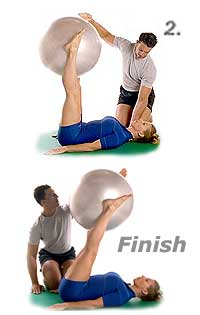 Roll-Over with Swiss Exercise Ball 2