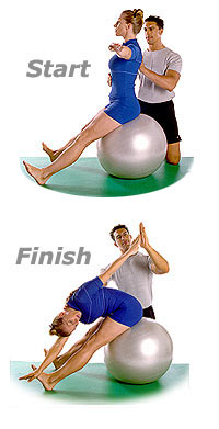 Saw with Swiss Exercise Ball