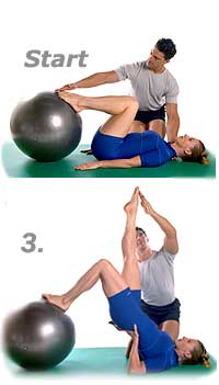 Shoulder Bridge with Swiss Exercise Ball