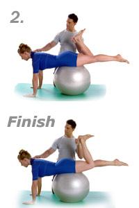 Single Leg Kick with Swiss Exercise Ball 2