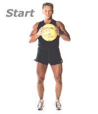Standing Oblique Twists with Medicine Ball 1Oblique Exercises With Medicine Ball