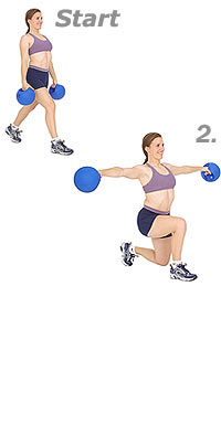 Image result for Alternating Lunges with Dumbbell Lateral Raise