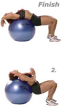 Supine Abdominal Stretch with Swiss Exercise Ball  2