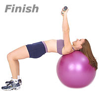 Supine Chest Press with Swiss Exercise Ball and TheraGear® Body Toning Bar 2