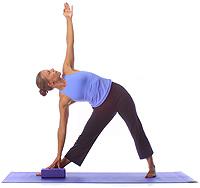 yoga advanced triangle with block
