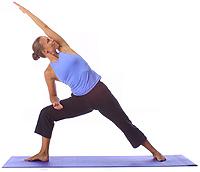 yoga beginner side angle stretch