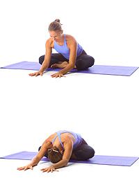 yoga crossed leg forward bend