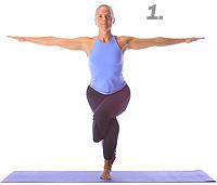 yoga eagle arms side