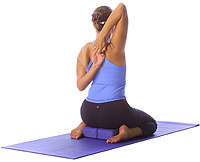 yoga hero with tricep rotator cuff stretch