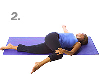 Yoga: Supine spinal twist 2