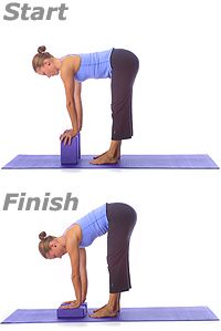 yoga standing forward fold with blocks